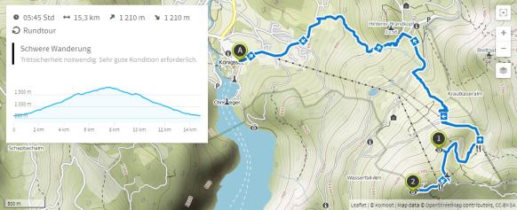 Jenner (Karte bei www.komoot.de)