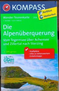Die Alpenüberquerung Karte