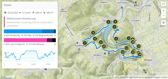 Niedeggen rund um Obermaubach Staubecken (Karte bei Karte bei www.komoot.de)
