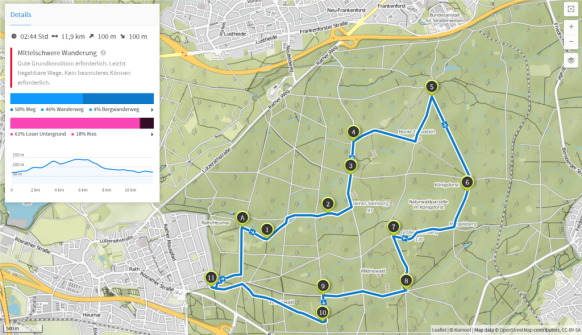 Rabenbruchtour (Karte bei Karte bei www.komoot.de)