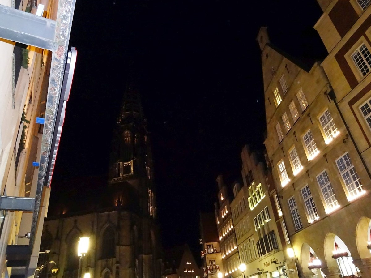 Münster Aasee mit Weihnachtsmarkt